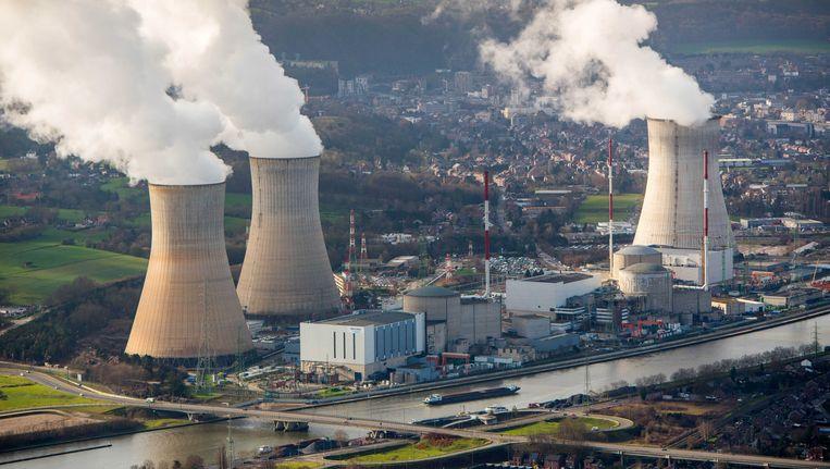 De kerncentrale in Tihange (Hoei).