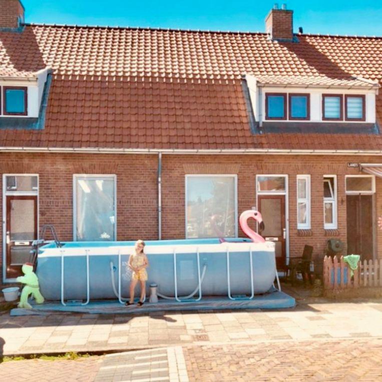 Zwembad in Deventer: ieder jaar een stukje groter. Beeld