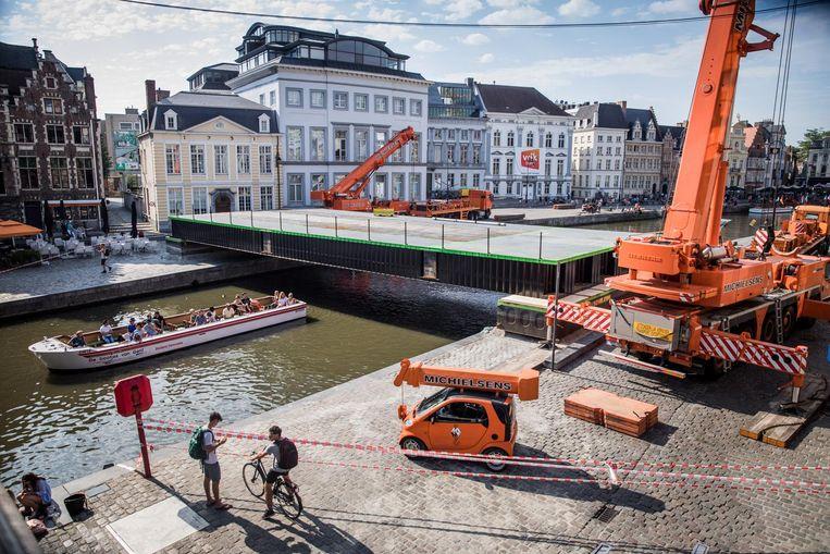 De opbouw van het podium PoléPolé is al begonnen.