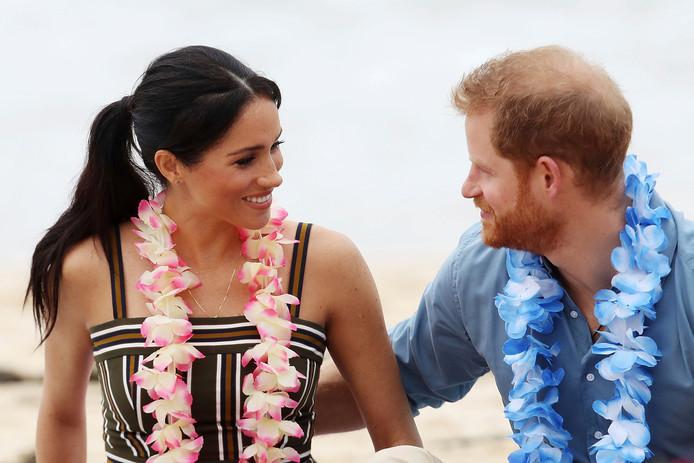 Le duc et la duchesse de Sussex, lors de leur voyage en Australie, à Bondi Beach.