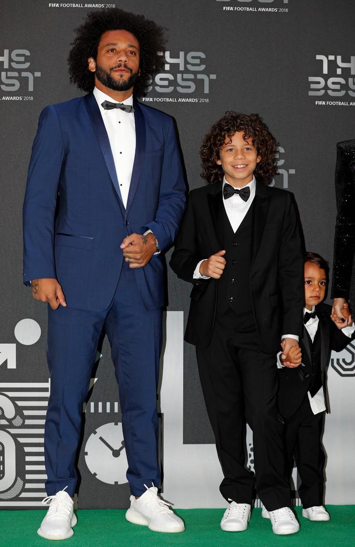Marcelo en zijn zonen Liam en Enzo.