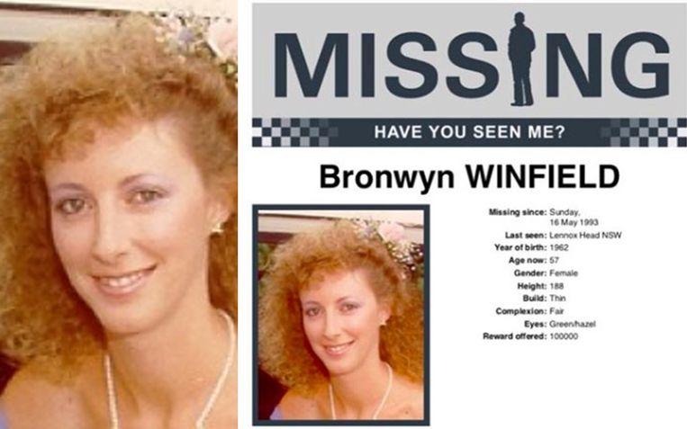 Bronwyn Winfield, mama van twee kinderen, werd vermoedelijk vermoord.