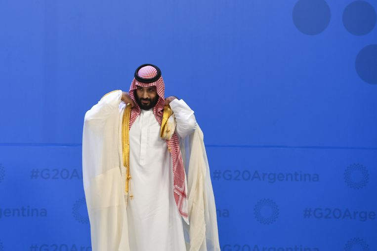 Archiefbeeld, de Saudische kroonprins Mohammed bin Salman bin Abdulaziz al-Saud op de G20-top.