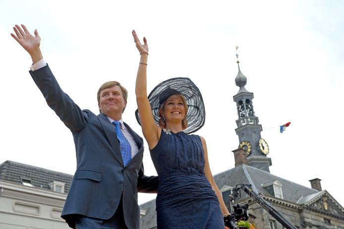 Den Bosch. Koning Willem-Alexander en koningin Maxima tijdens hun bezoek aan Brabant.