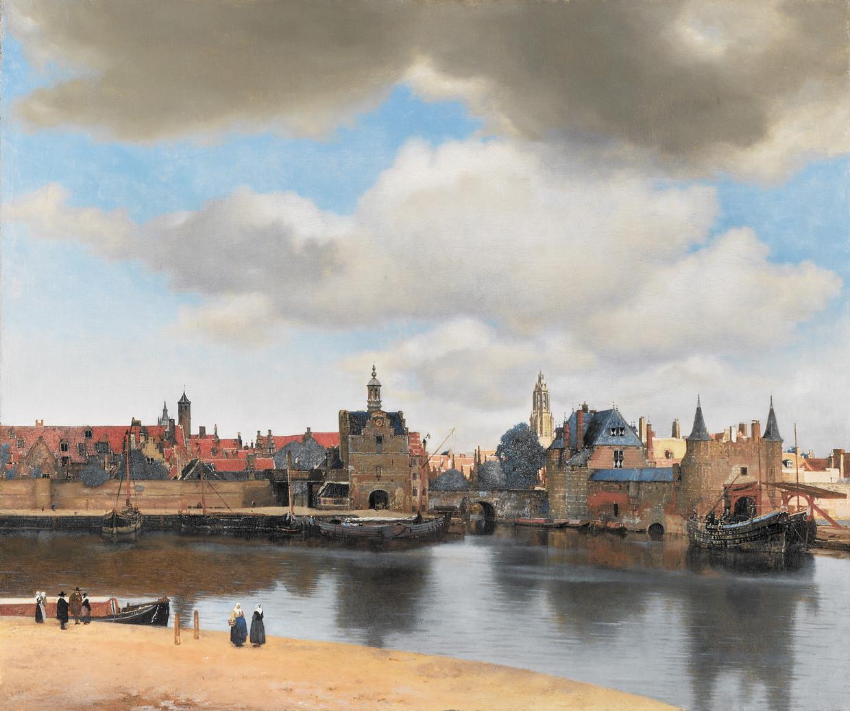 Johannes Vermeer: Gezicht op Delft, circa 1660-1661.  Beeld Mauritshuis Den Haag