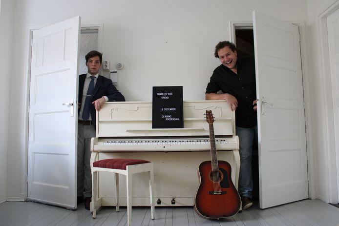Sebastiaan Waegemaekers (l) en Wessel Croonen als duo Sebas & Wes.