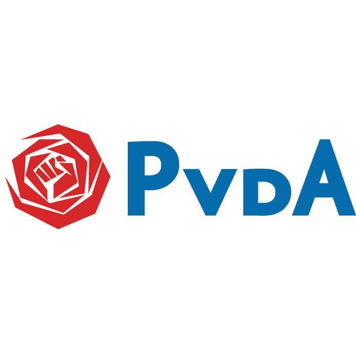 Logo PvdA. Ter illustratie.