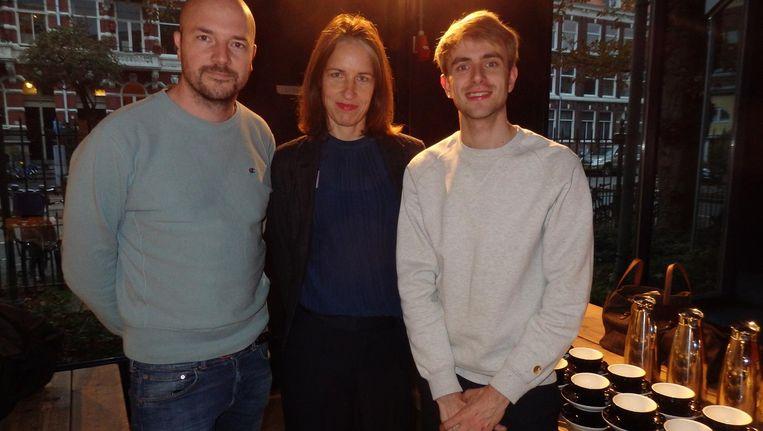 Vincent Lindeboom (Next Empire), Heleen Rouw (Artis) en Jurian van der Hoeven (Dawn). Rouw: 'We gaan een nieuwe beleving aan Artis toevoegen' Beeld Schuim