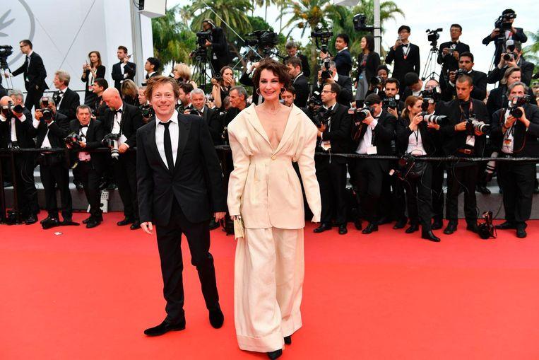 Mathieu Amalric en Jeanne Balibar op de rode loper. Beeld anp