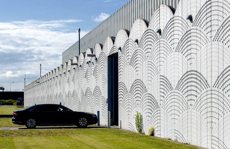Het extra beveiligde Justitieel Complex op Schiphol. Beeld ANP