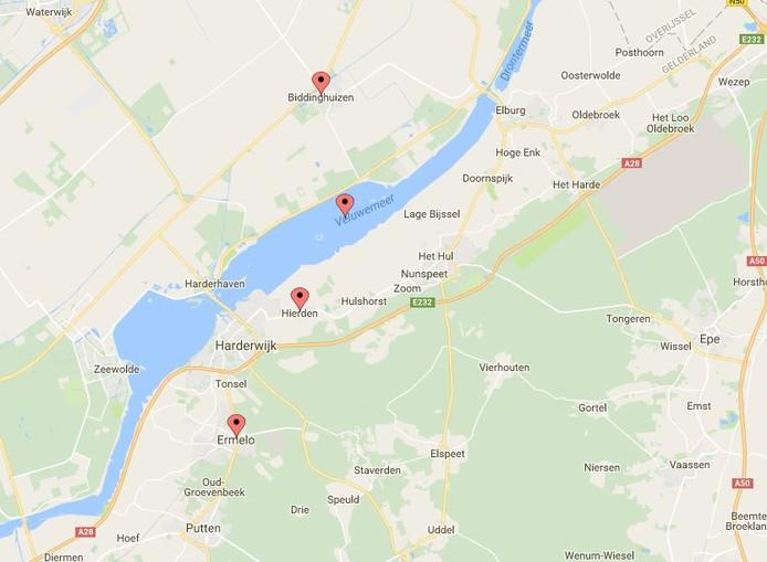 In Biddinghuizen is op twee locaties geruimd. In Hierden op drie en in Ermelo op één locatie.