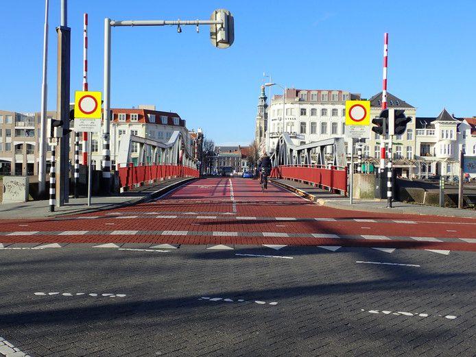 De Stationsbrug in Middelburg.