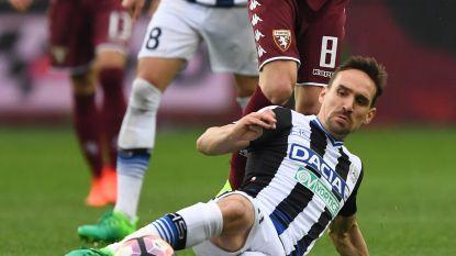 Sven Kums pakt met Udinese een punt tegen Torino