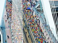 Finish-feest bij Annabel na de marathon van Rotterdam