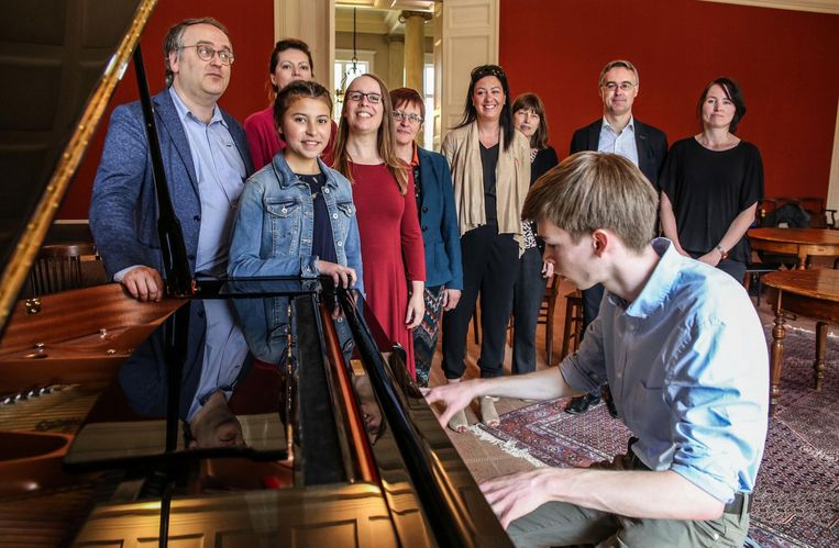 De leerlingen van het Conservatorium kunnen oefenen in Theoria.