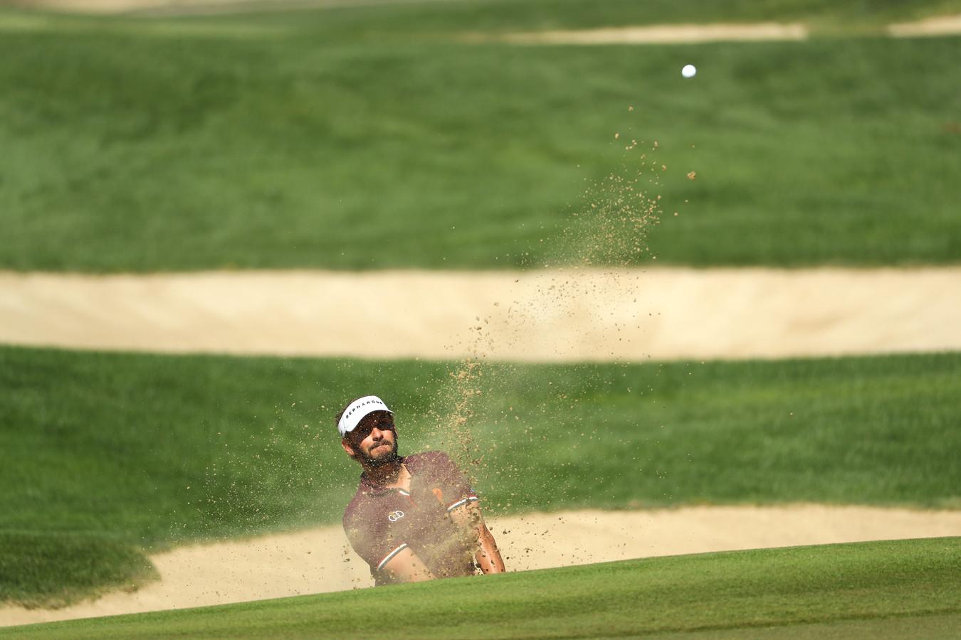 Joost Luiten in actie op de Abu Dhabi Golf Club.