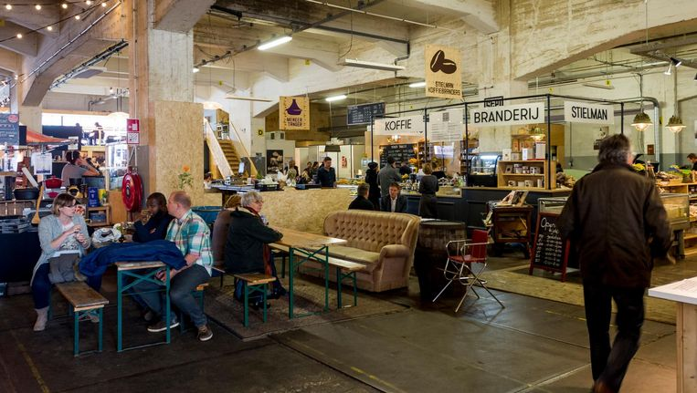 De Fenix Food Factory op Katendrecht moet mogelijk wijken voor Luxe Lofts. Beeld anp
