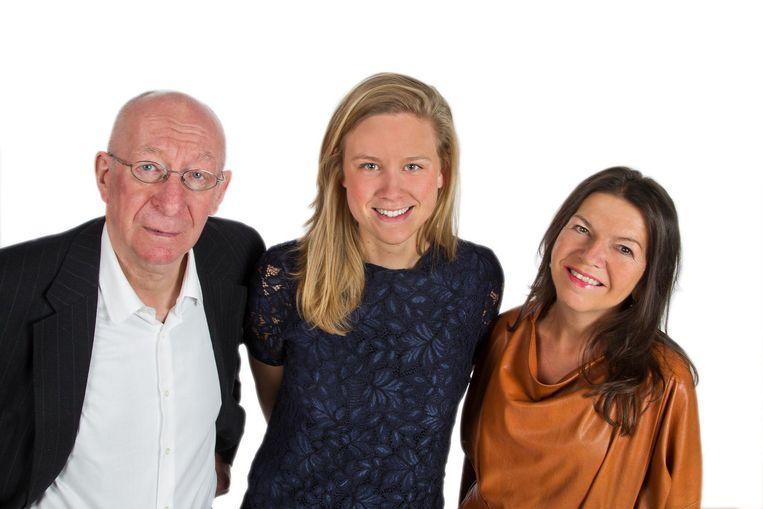 Luc Verguts, lijsttrekker Lieselotte Thys en Myriam Smets.