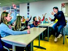 Basisschoolkinderen zijn alvast een dag brugklasser op Walburg College