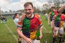 Nederland, 15apr2018 feestvierende rugbyers van Harlequins die voor het eerst in de geschiedenis kampioen  zijn geworden. Zij wonnen van The Dukes uit den Bosch met 70-0. fotografie: Cees Elzenga/hetoog.nl CE20180415 Editie: Oldenzaal