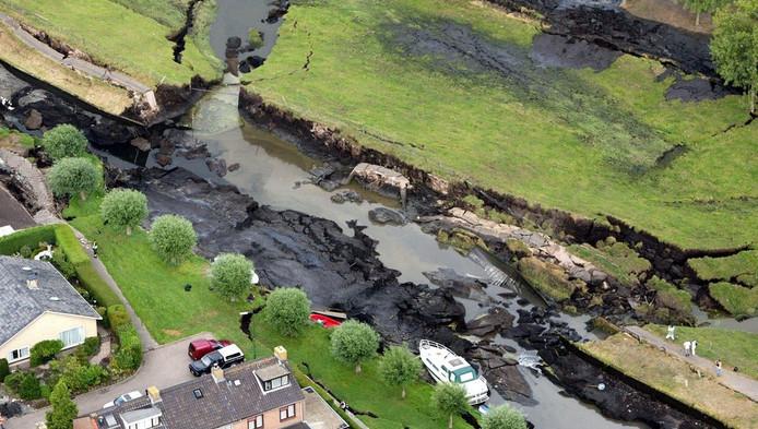 De dijkdoorbraak bij Wilnis in 2003 zorgde voor veel schade
