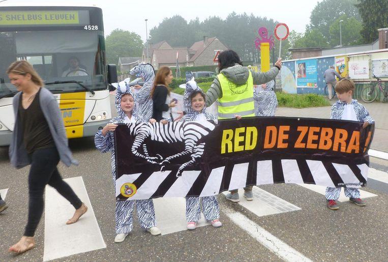 De actie 'Red de zebra' werd met veel enthousiasme afgetrapt.