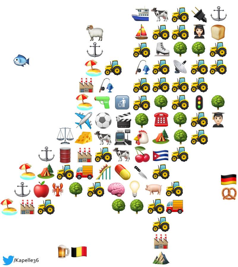 Nederland in emoji's.