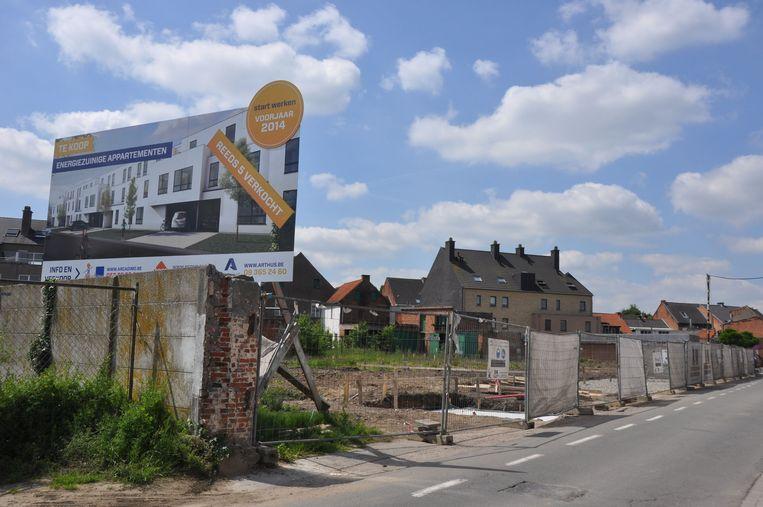 Op de site van de oude brouwerij komen flats.