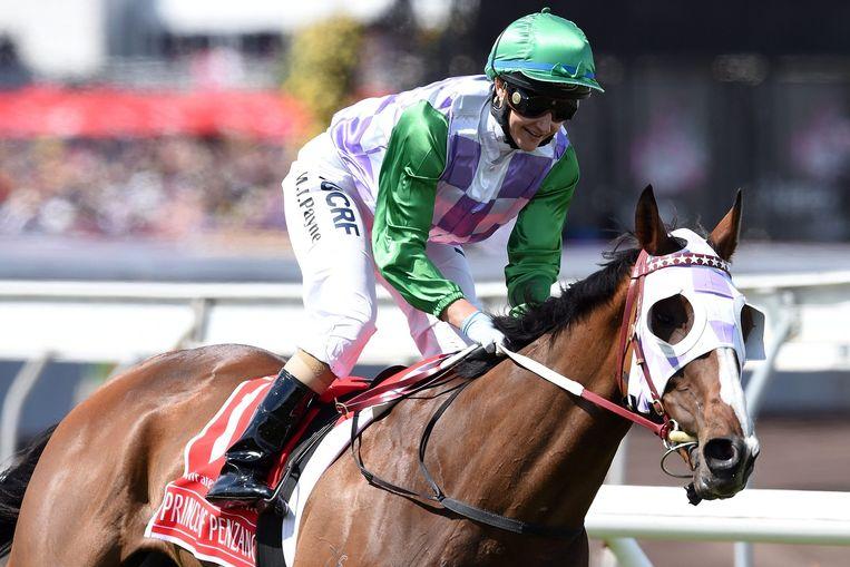 Payne en haar paard Prince of Penzance. Beeld epa