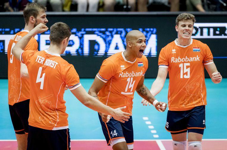 Nimir Abdel-Aziz blonk tegen België uit en houdt Nederland in koers voor een olympisch ticket.