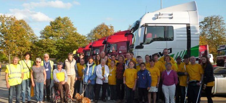 De vele vrijwilligers van Truckfun.