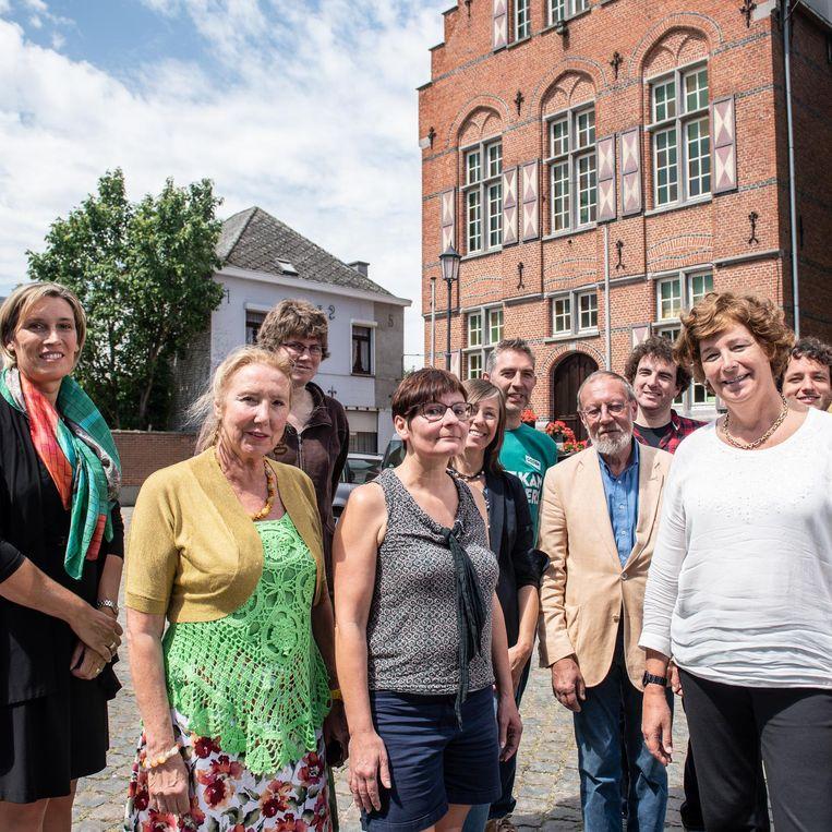 De kandidaten van Groen, met rechts lijsttrekker Petra De Sutter.