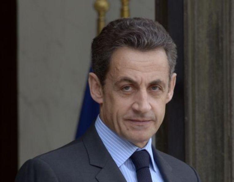 De Franse president Nicolas Sarkozy. EPA Beeld