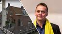 De opgestapte wethouder Frank van Liempdt. Links het betreffende brugwachtershuisje in Maarssen.