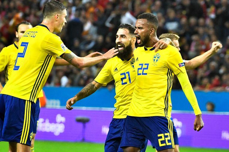 Thelin scoorde voor Zweden.