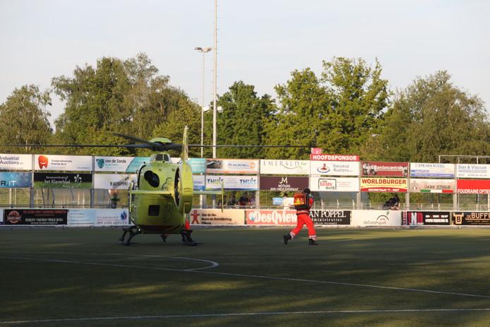 De traumahelikopter werd opgeroepen, maar was niet nodig.