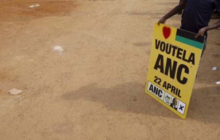 Het Afrikaans Nationaal Congres beschikt voor het eerst sinds 1994 niet meer over een tweederdemeerderheid in het parlement van Zuid-Afrika. Foto ANP Beeld