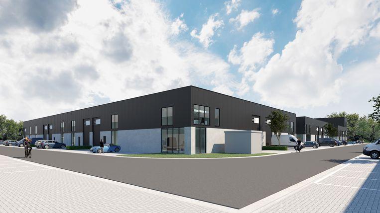 Een beeld van fase 2 van de nieuwe KMO-zone.