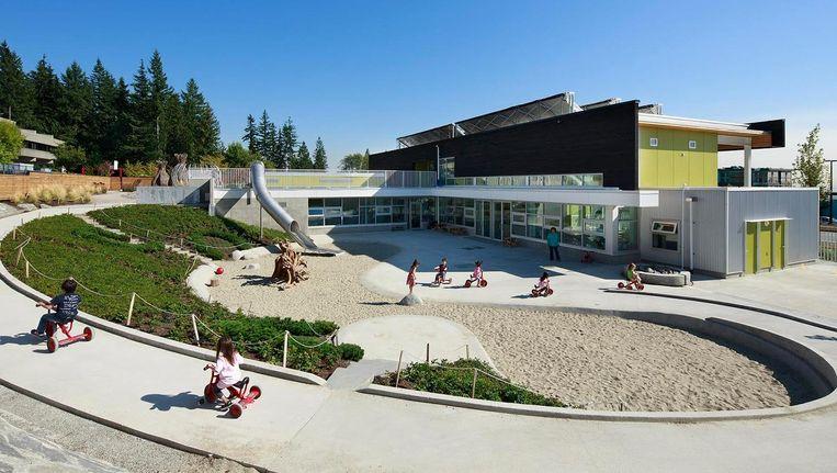 Basisschool in Canada van het architectenbureau waar Klein Amsterdam mee werkt Beeld HCMA Architecture
