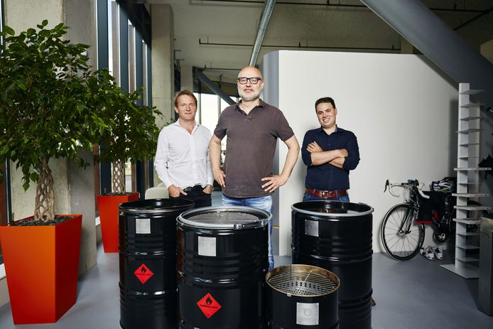 Huub Sparnaay, Onno Vos en Gerben Bierbooms (vlnr) van BarrelQ.