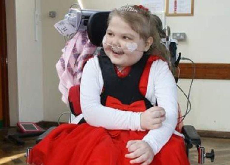 Melody na een eerdere thuiskomst uit het ziekenhuis na maar liefst 562 dagen.