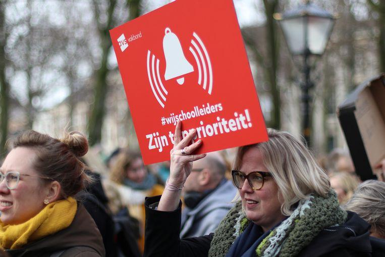 Majorie Visser-Boon bij de demonstratie in Den Haag. Beeld Fouad Hallak