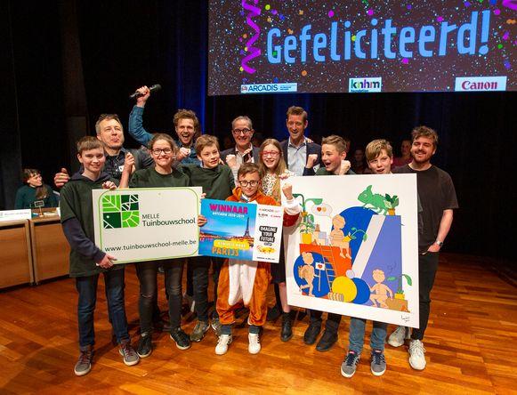 Tuinbouwschool Melle wint de Nederlandse wedstrijd in Eindhoven.