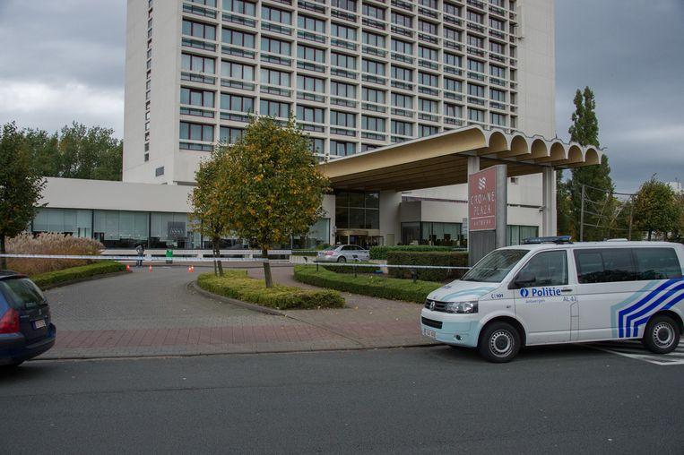 Het Crown Plaza Hotel.