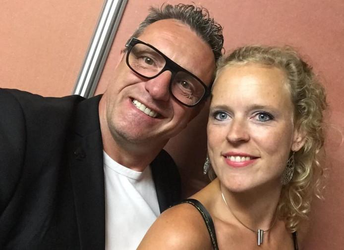 Kurt Huberecht en vriendin Nathalie.