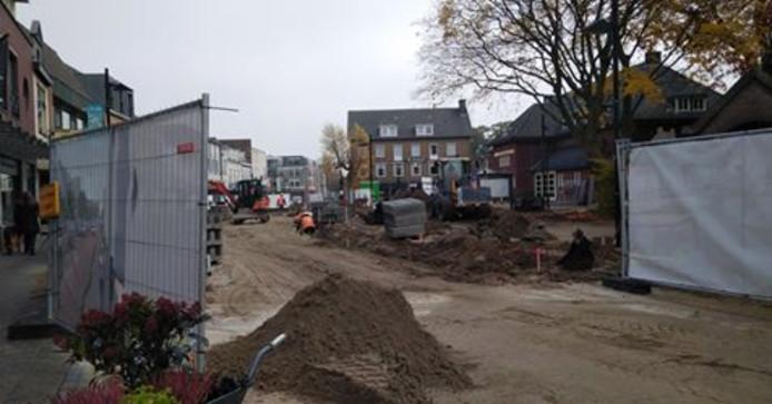 Reconstructie Molenstraat vlak na het begin
