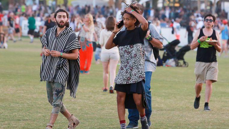 Jaden, de zoon van acteur en rapper Will Smith, is een zogeheten gender fluid en kleedt zich vaak in vrouwenkleren. Beeld Hollandse Hoogte