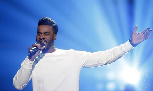 Deelnemer Nicolas tijdens de finale van Holland's Got Talent