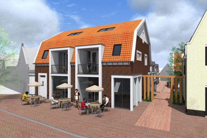 Zo moet de nieuwbouw van Boogert in Scharendijke eruit komen te zien.