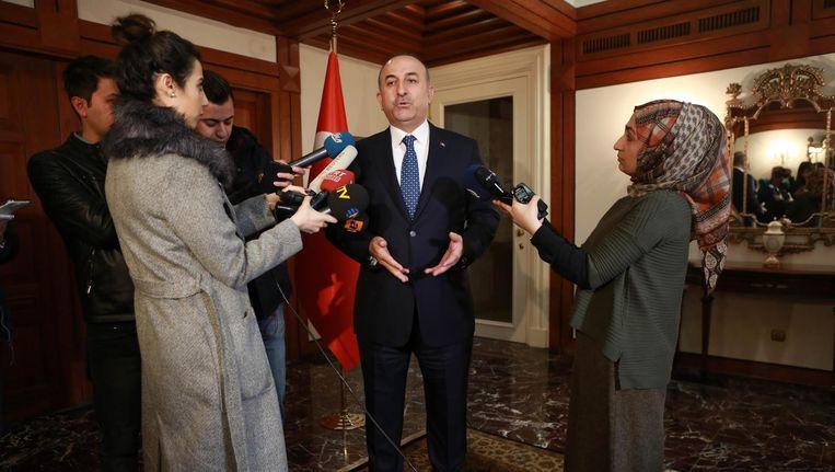 De Turkse minister van Buitenlandse Zaken Mevlut Cavusoglu. Beeld afp
